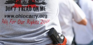 Gun rights advocate at rally